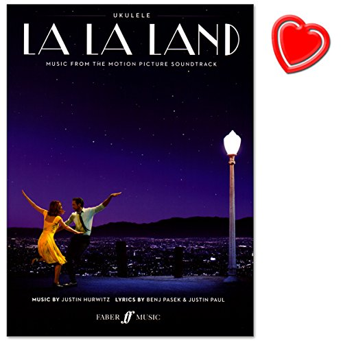 La La Land - Songbook für Ukulele - music from the motion picture soundtrack von Justin Hurwitz - Notenbuch mit bunter herzförmiger Notenklammer