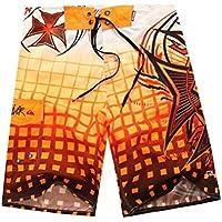 Pantalones Cortos de Playa, Pantalones Cortos de Surf Hawaianos Ocasionales, Pantalones Cortos de Verano para Hombres, Good dress, naranja, 34