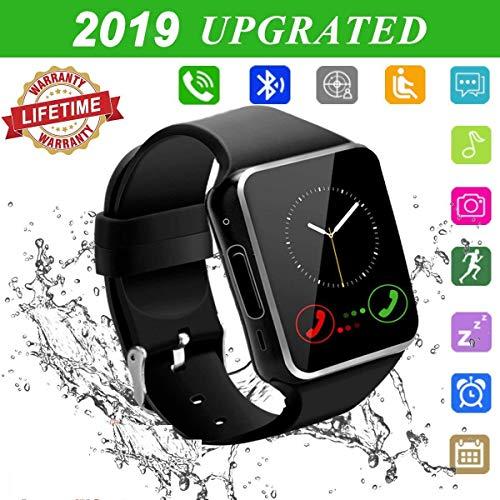 Smartwatch con Whatsapp,Bluetooth Smart Watch Pantalla táctil,Reloj Inteligente Hombre con Cámara, Impermeable Smartwatches Telefono Sport Fitness Tracker Compatible Android iOS para Hombre Mujer