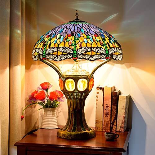 Lámpara Tiffany, Lámpara de mesa grande de gama alta de lujo ...