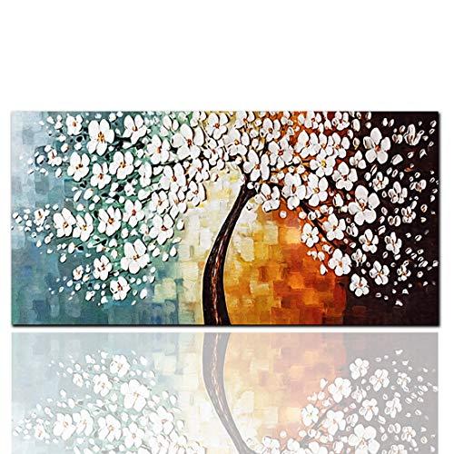 QKa HD Inkjet Reiche Baum Malerei Leinwand Einzel Rahmenlose Dekorative Ölgemälde Ölgemälde auf Leinwand Gedruckt Wandkunst für Wanddekoration,B,40cmx80cm - Inkjet-speicher