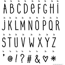 Letras para Lightbox. Manuscritas