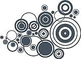 GRAZDesign 750036_57_841 Wandtattoo Dots Spiel Retro | Tattoo für Wohnzimmerwand | Wandaufkleber als Wand-Dekoration (79x57cm//841 Blue Grey)
