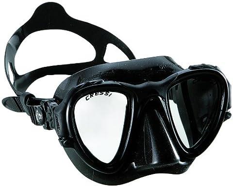Cressi Unisex Apnoe Tauchmaske Occhio Plus, schwarz, DS295050