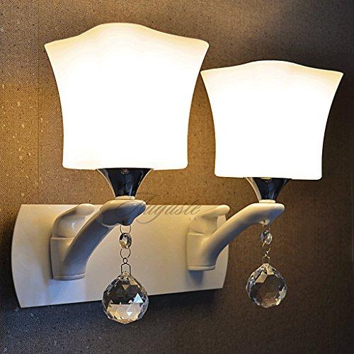 metallic-lackierung-einfachen-weissen-doppelkopflampe-reines-weiss-glasschirm-quartett-nachttischlam