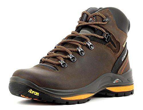 Grisport Herren und Damen-Stiefel Terrain Dakar Trekking- und Wanderstiefel aus hochwertigem Leder, Membrankonstruktion, Virbram-Sohle Braun (V12), EU 37 Terrain Stiefel