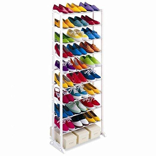 Zapatero organizador de zapatos 10 alturas para 30 pares