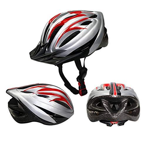 HS-GUANLY Reiten im Freien Leichte Kappe Belüfteter Mountainbike-Helm Nicht integrierter Helm Aerodynamische Bewegung PC-Rennrad-Mountainbike CE-Zertifizierung Fahrradhelm,Red,L57~62CM (Schädel Kappen, Helme)