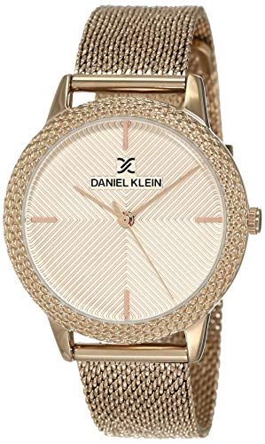 Daniel Klein Analog Pink Dial Women's Watch-DK12065-3