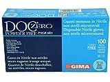 Doc Zero Powder Free Guanti in Nitrile Senza Polvere, Medi, Confezione 100 Pezzi