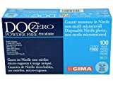 GIMA 25681, Guanti in Nitrile senza Polvere, Confezioni da 100, Media, Blu