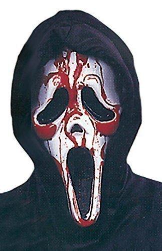 Scream gruselig Halloween Gesichtsmaske Kostüm Verkleidung Zubehör (Blutende Scream Kostüm)