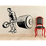 CVANU Bodybuilding Stickers Wall Vinyl Decals Home Art Decoration