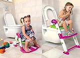 Rotho KidsKit Toilettentrainer 3 in 1 pink-weiß-grün