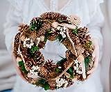 CcCoCo Decoraciones de Navidad Sala de Estar Pared Decorado Ramas secas Formas Naturales piñas Conos Coronas