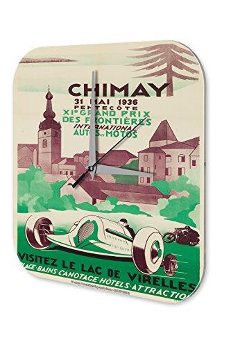 wanduhr-nostalgie-auto-retro-chimay-rennen-wand-deko-acryl-uhr