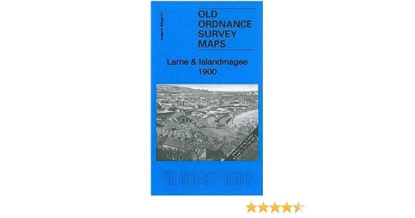 OLD ORDNANCE SURVEY MAP LARNE ISLANDMAGEE 1900 GLENOE GLYNN PORTMUCK