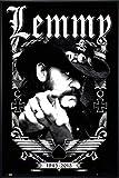 Close Up Motörhead Poster Lemmy 1945-2015 (93x62 cm) gerahmt in: Rahmen schwarz