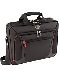 "Wenger 600643 Sensor 15.4"" Laptop Briefcase , Padded laptop compartment with iPad/Tablet / eReader Pocket in Black {9 Litres}"