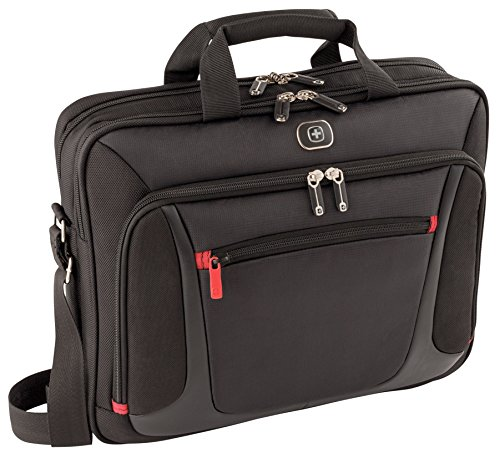 "Wenger 600643 SENSOR 15"" MacBook Pro Briefcase with iPad Pocket (Black)"