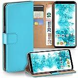 Samsung Galaxy S8 Hülle Türkis mit Karten-Fach [OneFlow 360° Book Klapp-Hülle] Handytasche Kunst-Leder Handyhülle für Samsung Galaxy S8 Case Flip Cover Schutzhülle Tasche