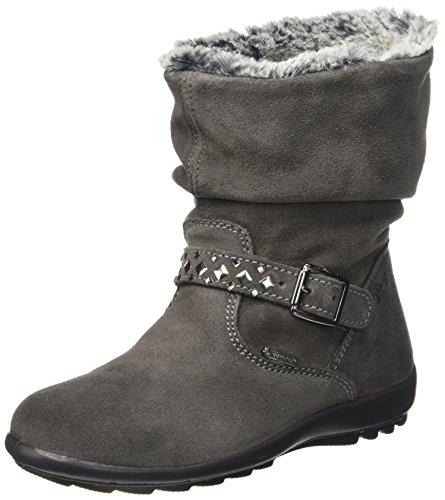 PrimigiGlossy - Stivali a metà gamba con imbottitura pesante  Bambina , grigio (Grau (GRIG.SCURO)), 28 EU