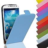 Eximmobile Flip Case Handytasche für Nokia Lumia 630 in Blau | Kunstledertasche Nokia Lumia 630 Handyhülle | Schutzhülle aus Kunstleder | Cover Tasche | Etui Hülle in Kunstleder