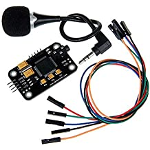 Eachbid Voice Recognition Module with Microphone Dupont Jumper Wire Compatible for Arduino Compatible