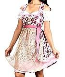 Bavarian Clothes Dirndl kurz midi rosa Größe 40 mit weißer Dirndlbluseund Dirndlschürze
