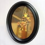 MJW 10-Zoll-Schwarzen Ovalen Rahmen, Home Kreative Holz Bilderrahmen Display 8 X 10 Bild