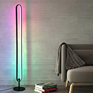 RGB Floor Lamp, RGB Lamp, TBOYUAN Modern Floor Lamps for Living Room, Minimalism RGB Color Changing Aluminum A