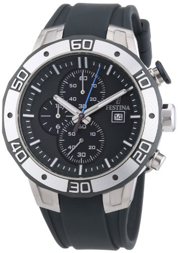 Festina 2013 Tour of Britain Men's Quartz Watch with Grey Dial Chronograph Display and Grey PU Strap F16667/4