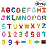 OUNONA 41pcs Kinder's Kühlschrankmagnete Alphabet Und Nummer,Lustige Magnete