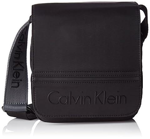 Calvin Klein Matthew Reporter Wi, 001, Os, Besaces homme, Black, 5.5x17x20 cm (W x H L)