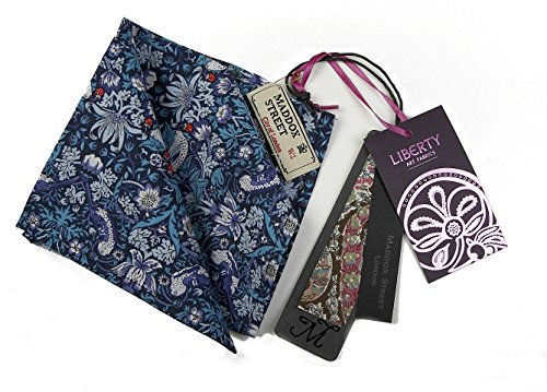 Maddox Street Liberty Pocket Squares, Navy