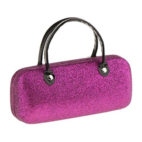 Sharplace Brillenetui Brillenbox Sonnenbrillen Box Hartschalen Etui Hardcase, schöne Farben Auswählbar Handtasche Design, tragbar - Glitzer Lila