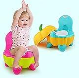 Malayas Pot BébéToilette de Voyage Portable Design Amusant pour Enfant Dossier Ergonomique Haut Confortable et Robuste