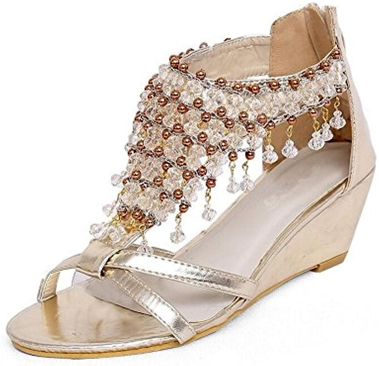 HN Shoes Mujeres Bloque Tacón Alto Sandalias para Mujer Rosado Nupcial Boda Nupcial Zapatos Peep Toe Remache Correas... -