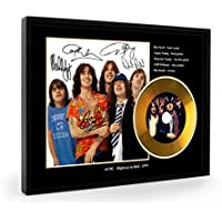 ACDC Bon Scott Highway To Hell Replica gerahmte CD Gold Disc (B)
