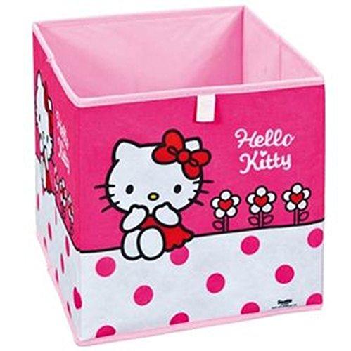 Panier de rangement pliable Hello Kitty Flower, 32 x 32 x 32 cm -PEGANE-