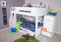 Flair Furnishings Flick Bunk Bed White, Wood, 198x142x158.9 cm