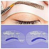 4 Stück DIY Augenbrauen Schablonen- Eye Brow Shaping Pflege gestalten Eyebrow Stencil Makeup Vorlagen