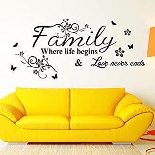 DRESS_Home ❤️❤️Family Motto Wall Sticker PVC Home Decor Removable Living Room Decal Art Mural Decoration