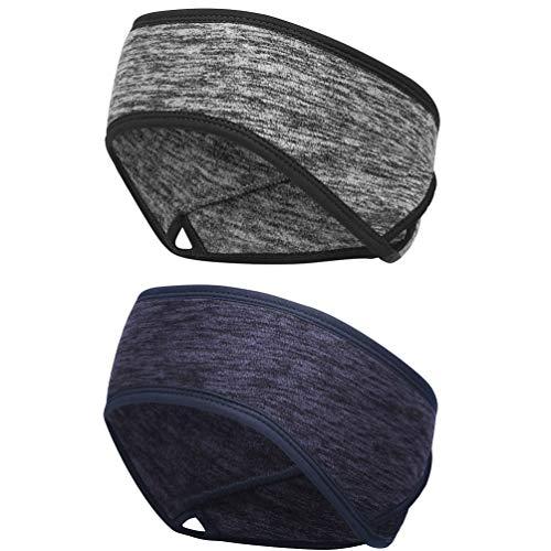 VBIGER Stirnband Winter Ear Warmers Sport Stirnbänder zum Joggen, Laufen, Wandern, Radfahren und Motorradfahren Sport Ohrenschützer Thermal Headband für Herren und Damen - 2er Set
