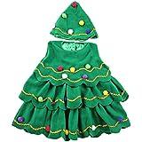 Ohlees de Navidad juego de niño disfraz de árbol de Navidad espumillón con body de y sombrero