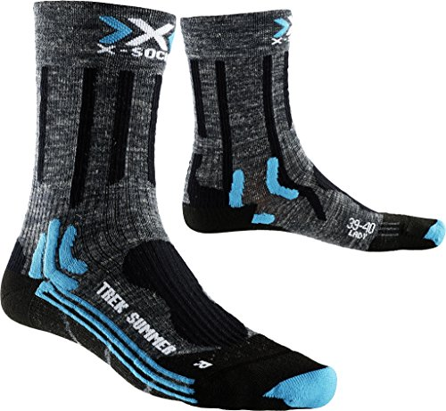 X-socks trekking summer, calze donna, antracite/nero, 37/38