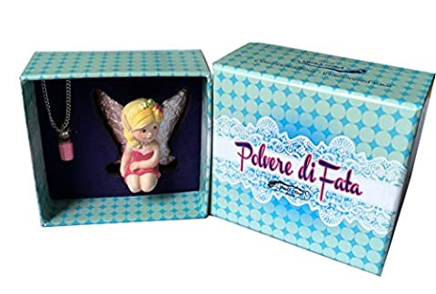 Paul Clear Fairy Fairy Dust with Fairy,/Metal/Glass, Marble Pink, 6 x 5 x 3 cm