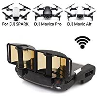 DJI Mavic Pro Mavic Air Spark Accessories for DJI Mavic Pro / Mavic Air / Spark Controller Signal Booster Foldable Signal Extender Transmitter Antenna Range Extender DJI Spark Drone (Gold)
