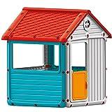 Dolu Spielhaus für Drinnen oder Draussen mit Tür und Fenstern 104 cm • Kinderspielhaus Gartenhaus Kinderhaus Garten Spielzeug Hütte
