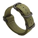 Gemony NATO Armband 5-Edelstahl-Ringe Premium-Ballistic Nylon Zulu Diver-Uhrenarmband 20mm/22mm, WB-013G